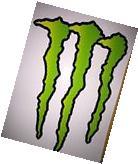 "Large HUGE Monster Energy Drink Decal Sticker 11.75"" x 8.5"""