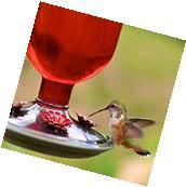 Hummingbird Feeder Perky-Pet Antique Glass Bottle 16 Oz Nectar Garden Decor Red