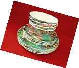222 Fifth Hummingbird Floral Set of 12 MELAMINE Outdoor