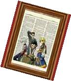 Hunter X Hunter Anime Dictionary Art Poster Picture Gon
