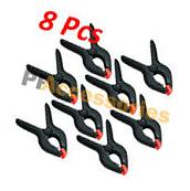 """8 Pcs 6"""" inch Heavy Duty Plastic Spring Clamps Tips Tool"""
