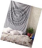 Indian Mandala Wall Hanging Ethnic Throw Queen Bedspread