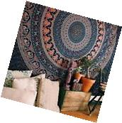 Indian Elephant Mandala Tapestry Hippie Wall Decor Large