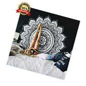 Indian Mandala Tapestry Hippie Wall Hanging Bohemian Black