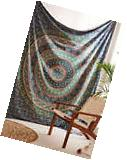 Indian Tapestry Mandala Throw Wall Hanging Ethnic Bedspread