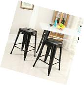 """Industrial Bar Stool, Set of  Stackable 26""""-inch Counter"""