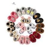 Infant Baby Soft Sole PU Leather Boy Girl Toddler Moccasin