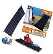 Inflatable Fabric Camping Mat Outdoor Mattress Air Bed Built