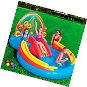 Intex Inflatable Kiddie Pool Water Slide Splash Play Center