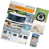 Intex Inflatable Pure Spa 4 Person Portable Heated Bubble