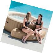 Inflatable Hot Tub Bench Seat Durable Vinyl Spa Chair Curved