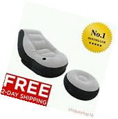 INTEX INFLATABLE ULTRA LOUNGE AND OTTOMAN LARGE VIDEO GAMING