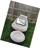 Intex Inflatable Ultra Lounge With Ottoman Blow Up Sofa