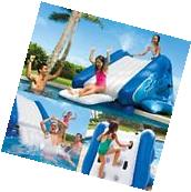 Inflatable Water Slide Intex w/Sprayer Commercial Outdoor Kid Play Swimming Pool