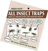 10 pk  ALL INSECT TRAPS. Sticky glue sheets / clear bug