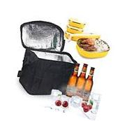 Oumers Large Insulated Lunch Tote Bag Cooler Box - Black New