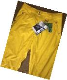 OAKLEY Insulated Shell Pant Ski/Snowboard Sz Large YELLOW 34