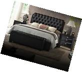 Acme Ireland Queen 6 Piece Button Tufted Black Bed Set