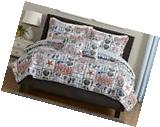 NEW alcove Island 3Pc King Quilt Set Nautical Montage