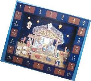 Kurt Adler J3767 Wooden Nativity Advent Calendar With