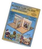 Jean Nordquist's Repro McLoughlin Folding Doll House in 1/4