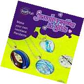 Jewellery Making Craft Kit for Girls, Craft Glass Pendant