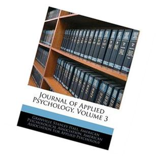 Journal Of Applied Psychology, Volume 5