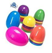 Jumbo 7 Inch Assorted Colors Easter Eggs 12 Giant Un-hinged