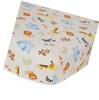Bedtime Originals Jungle Buddies Sheet, Brown/Yellow by