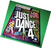Just Dance 4 Microsoft Xbox 360 *Factory Sealed! *Free