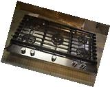 """KitchenAid KCGS956ESS 36"""" Stainless Gas Cooktop w/5 Sealed"""