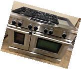 """KitchenAid KDRS483VSS03 48"""" Pro Dual Fuel Range Stove 6"""
