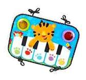 Fisher-Price Kick Play Touch Piano Soft Keys Baby Activity