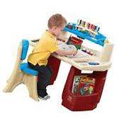 Kids Craft Table Art Chair Set Activity Drawing Desk Storage