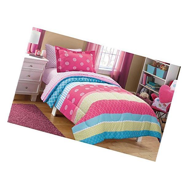 Mainstays Kids Mix It Up Bed in a Bag Bedding Set Comforter