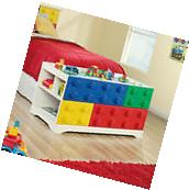 Kids Play Table Lego Blocks With Storage Cubbyhole Children