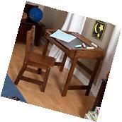 KIds Study Desk Set With Chair Chalkboard Top Children