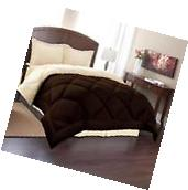 King Size Reversible Comforter Set 3 Piece Bed in a Bag