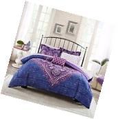 Queen Size Bed In A Bag Microfiber Bedding Set Comforter