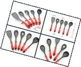 Kitchen Cooking Essential Set of 5 Silicone Tools Gadget Red