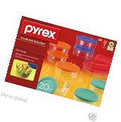 Pyrex 20-Piece Kitchen Glass Food Storage Set Containers