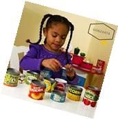 Kitchen Grocery Food Play Melissa & Doug 10 Stackable Cans