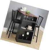 Kitchen Nook Dining Set Table 2 Chairs Small Dinette Storage