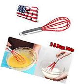 NEW Kitchen Silicone Whisk Heat Resistant Non-Stick Silicone
