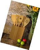 Bamboo Kitchen Utensil Set 5 Piece Totally Wooden Cooking