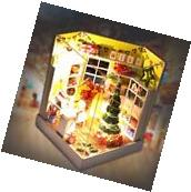 Kits Wood Dollhouse Miniature DIY House Led Room with