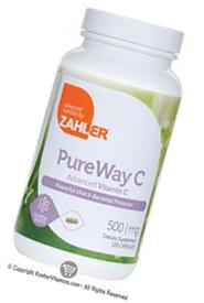 Zahlers Kosher PureWay-C 500 mg Vitamin C - 120 Capsules