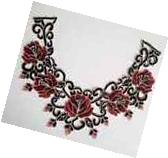 New Lace Embroidered Rose Neckline Neck Collar Trim Clothes