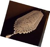 NEW - White Lace Table Runner or Dresser Scarf Scalloped