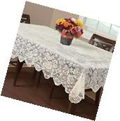 Home Lace Tablecloth Table Cloth Polyester Floral Cover